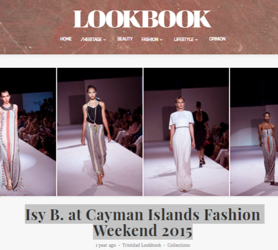 Trinidad Lookbook - Isy B. at Cayman Islands Fashion Weekend 2015