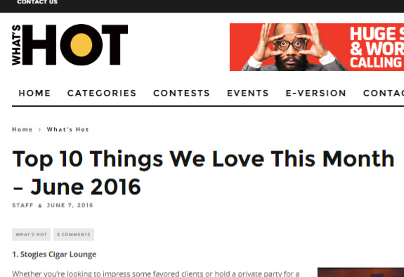 What's Hot - Top 10 Things We Love This Month