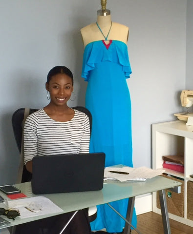 Isy B first Cayman Fashion Intern