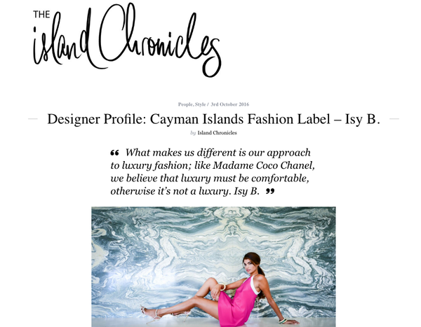 Island Chronicles Isy B Travel Luxury
