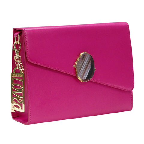 LOVED BAG - PINK RUBY LEATHER WITH BROWN AGATE - 1.001.004.021