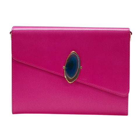 LOVED BAG - PINK RUBY LEATHER WITH BLUE AGATE - 1.01.002.027