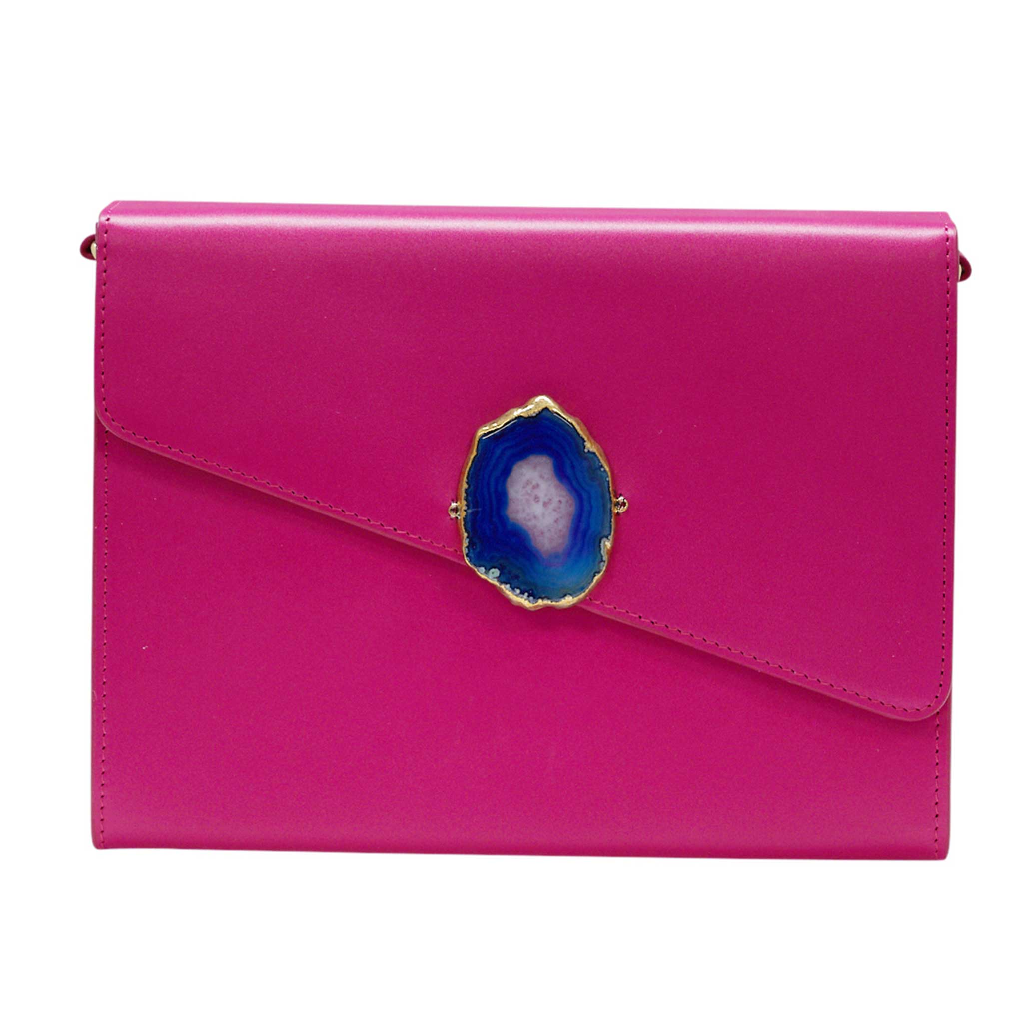 LOVED BAG - PINK RUBY LEATHER WITH BLUE AGATE - 1.01.002.043