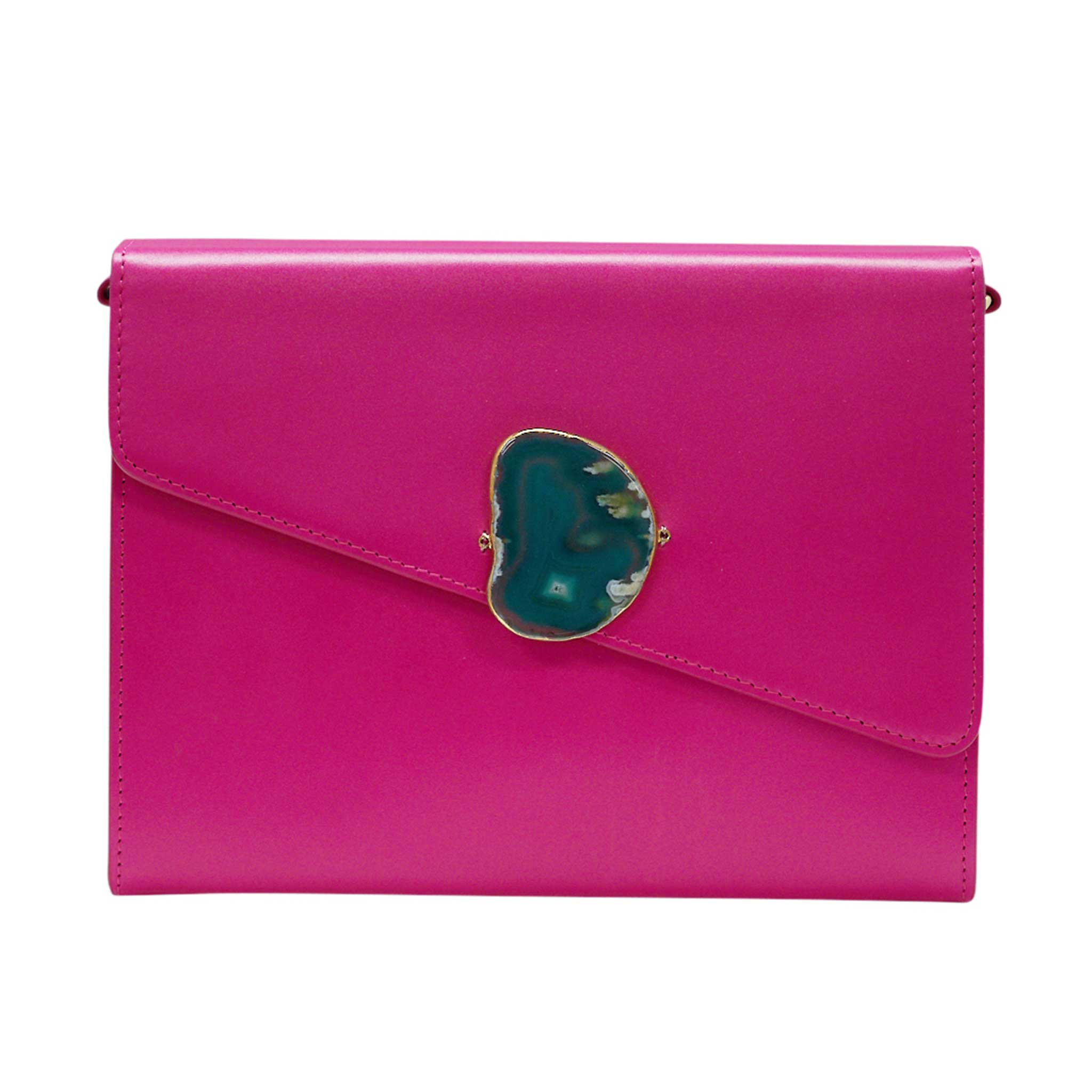 LOVED BAG - PINK RUBY LEATHER WITH BLUE AGATE - 1.01.003.015