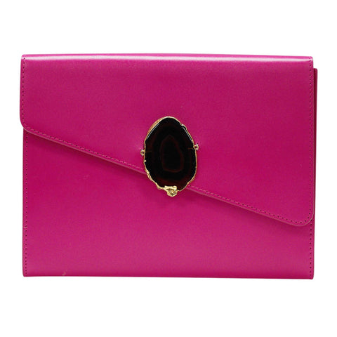 LOVED BAG - PINK RUBY LEATHER WITH BROWN AGATE - 1.01.004.007
