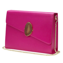 LOVED BAG - PINK RUBY LEATHER WITH BROWN AGATE - 1.01.004.020