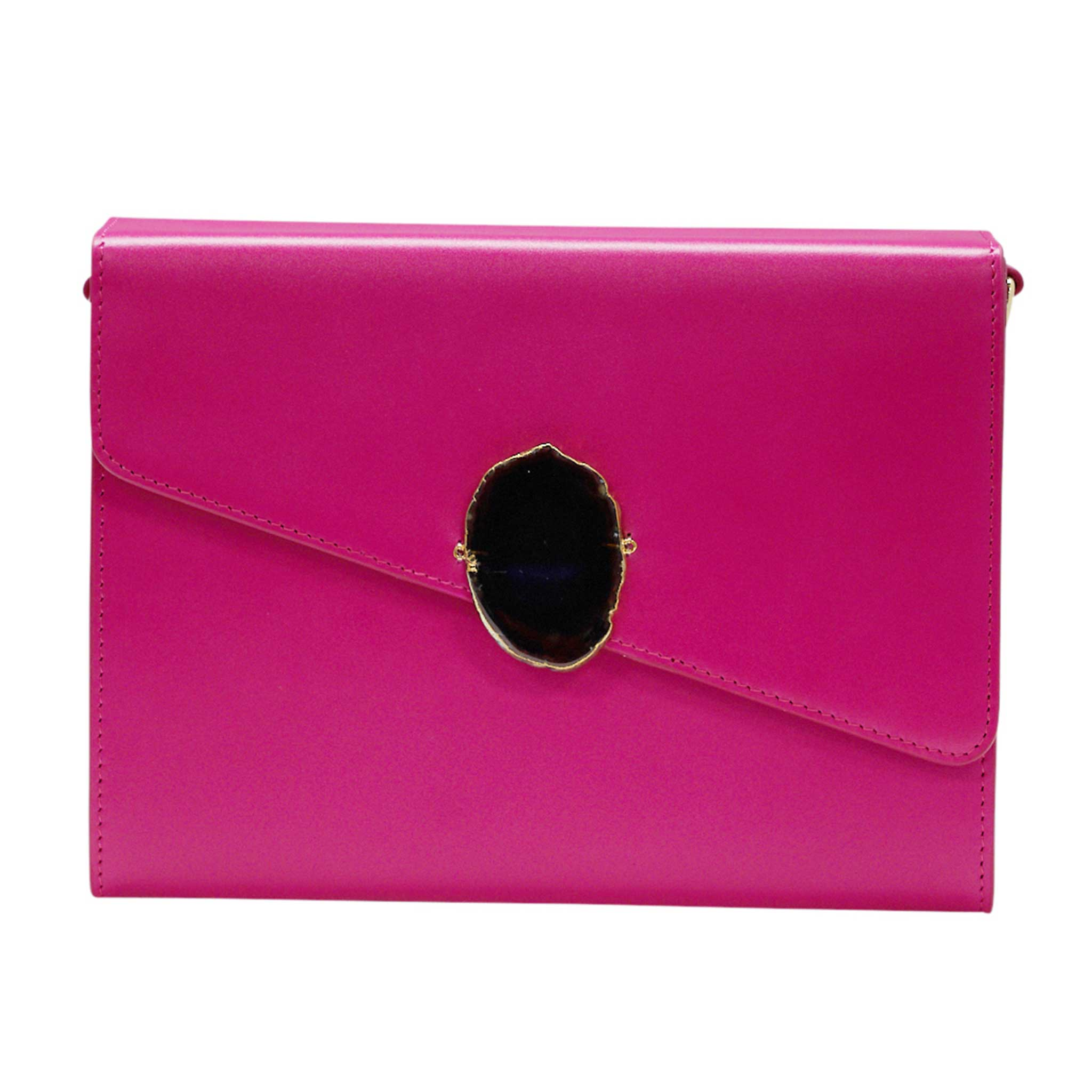 LOVED BAG - PINK RUBY LEATHER WITH BROWN AGATE - 1.01.004.034