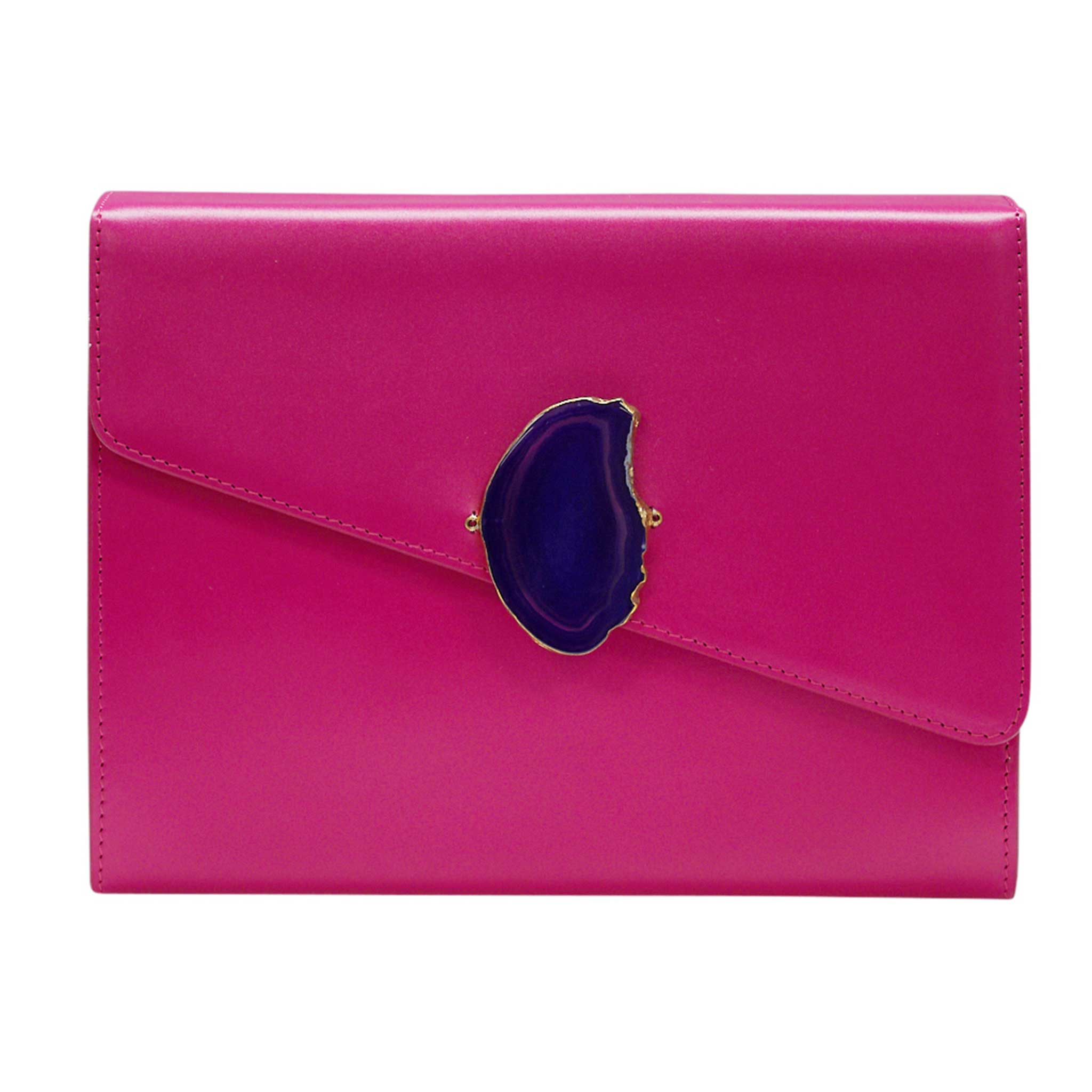LOVED BAG - PINK RUBY LEATHER WITH PURPLE AGATE - 1.01.006.043
