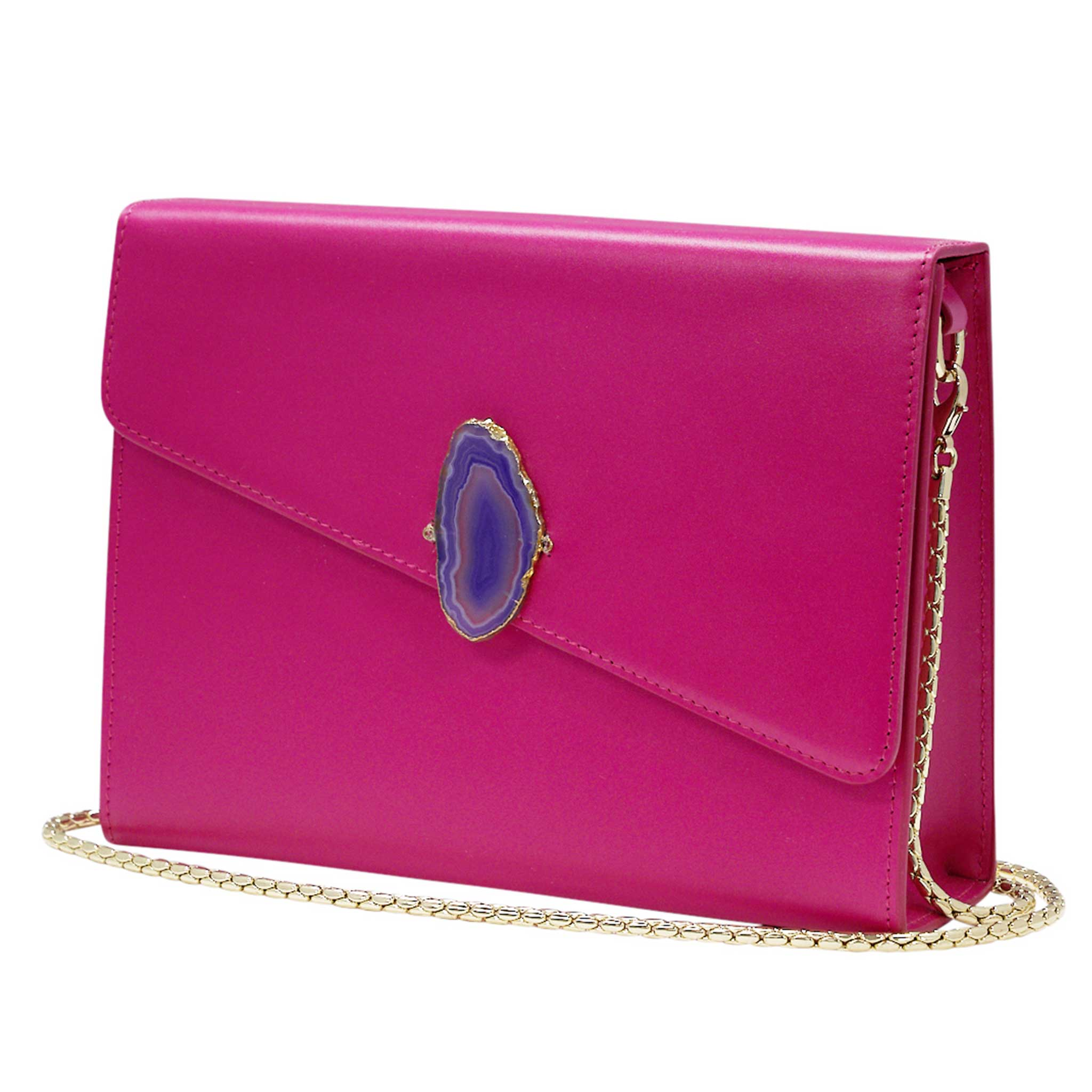 LOVED BAG - PINK RUBY LEATHER WITH PURPLE AGATE - 1.01.006.051