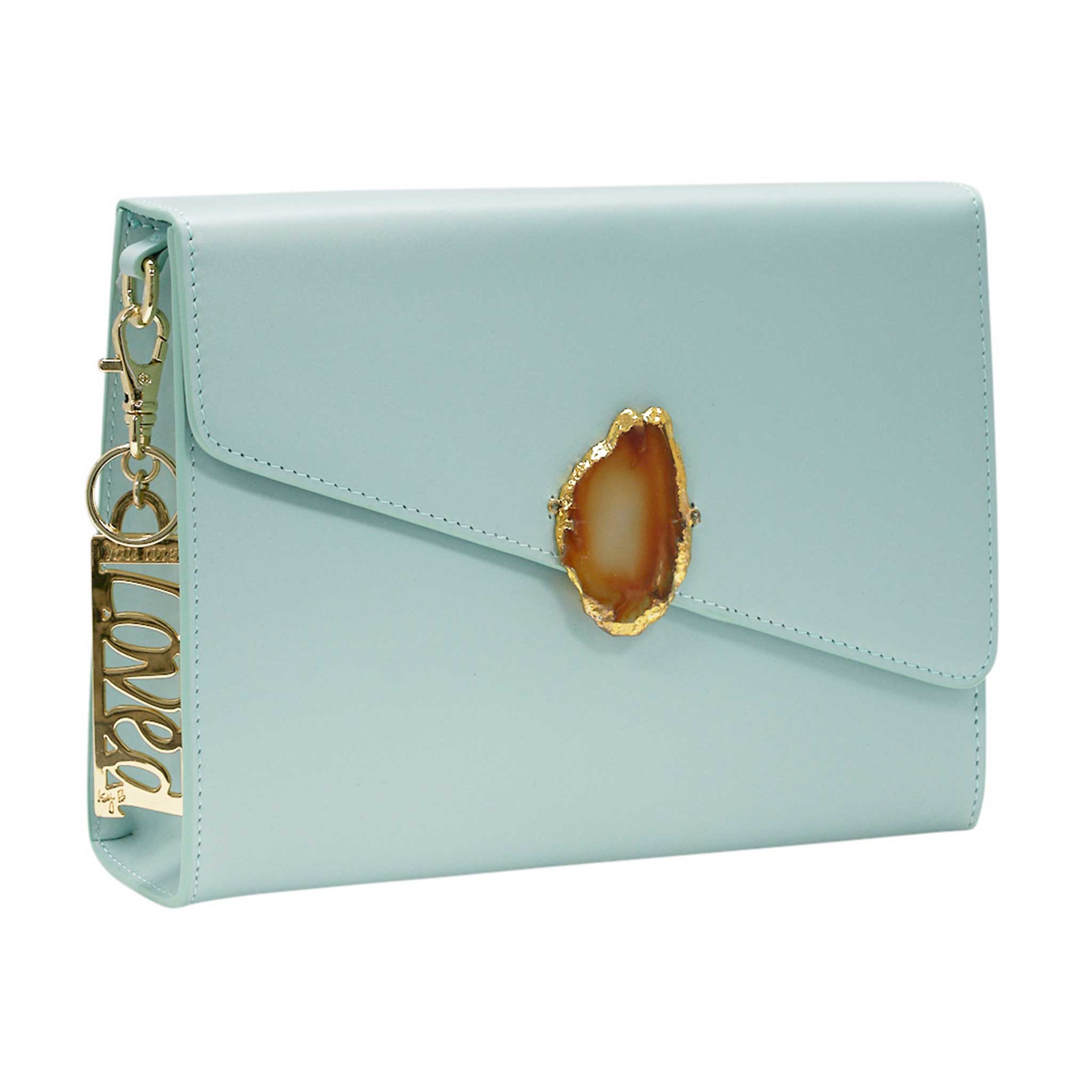 LOVED BAG - MOONSTONE WHITE LEATHER WITH YELLOW AGATE - 1.02.001.44