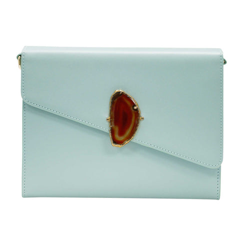 LOVED BAG - PINK RUBY LEATHER WITH BLUE AGATE - 1.01.002.024