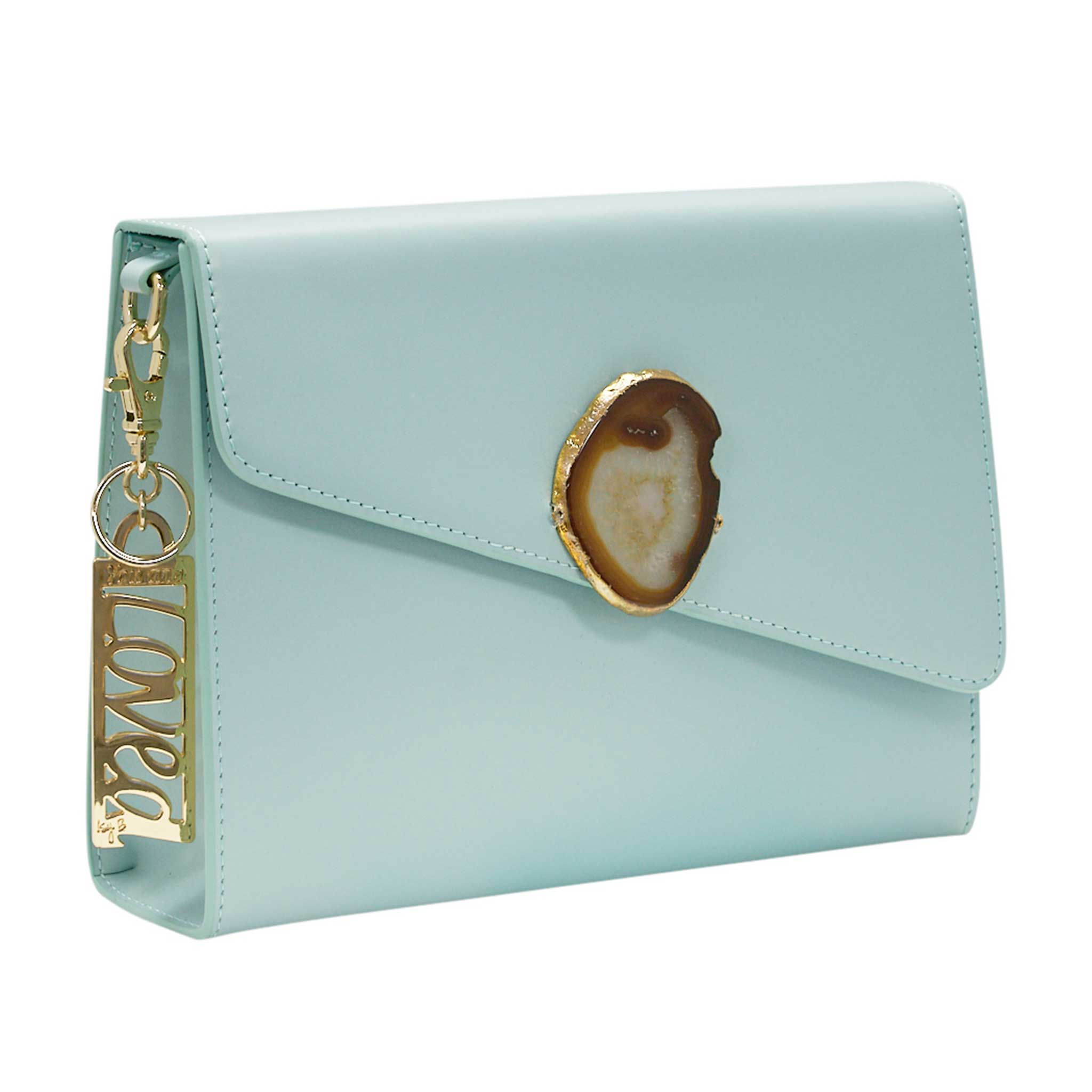 LOVED BAG - MOONSTONE WHITE LEATHER WITH YELLOW AGATE - 1.02.004.013