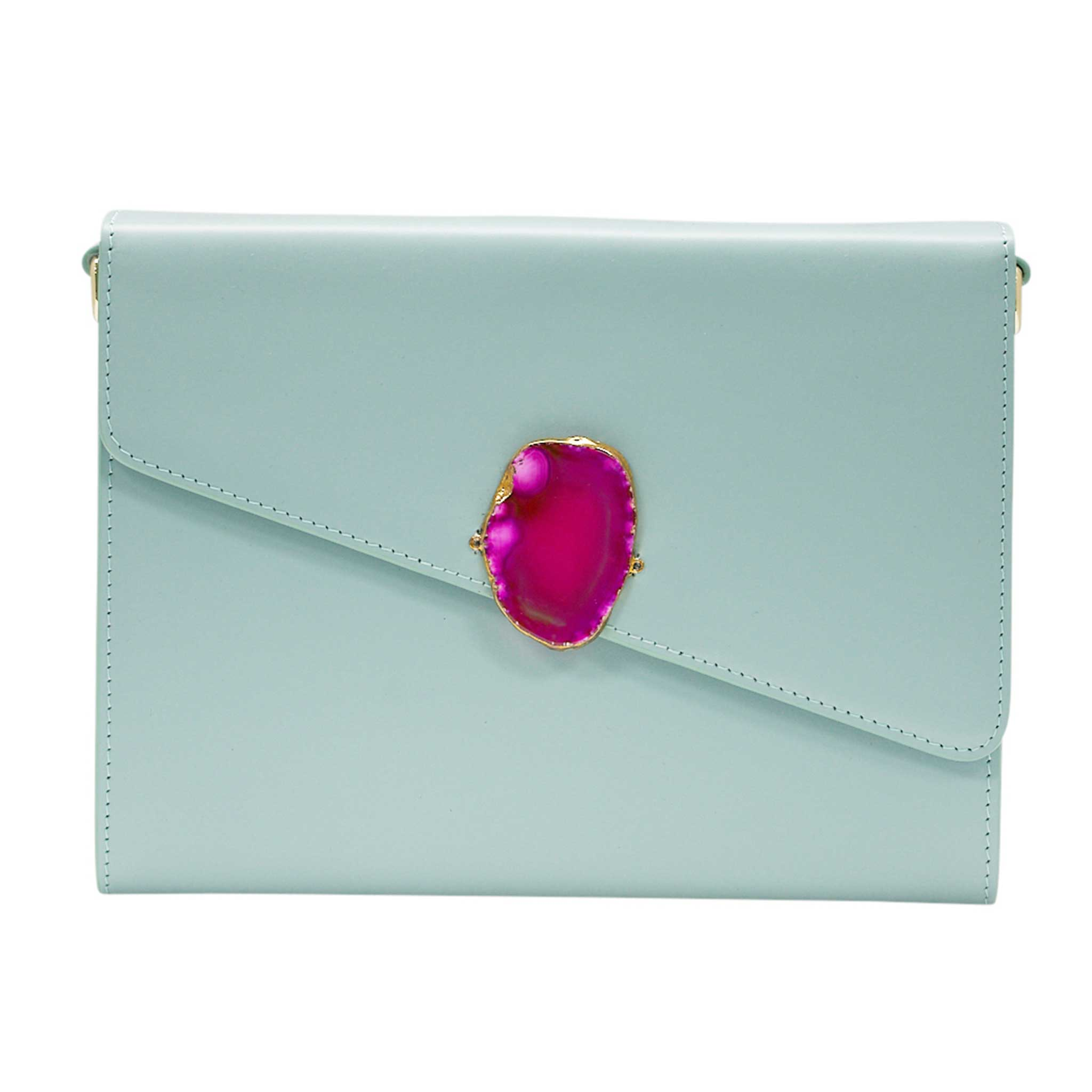 LOVED BAG - MOONSTONE WHITE LEATHER WITH PINK AGATE - 1.02.005.055