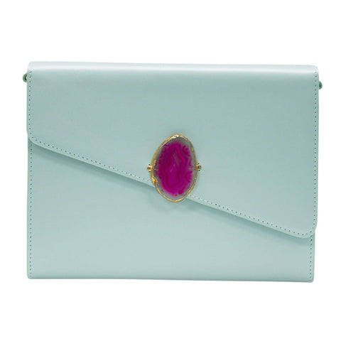 LOVED BAG - PINK RUBY LEATHER WITH BROWN AGATE - 1.01.004.050