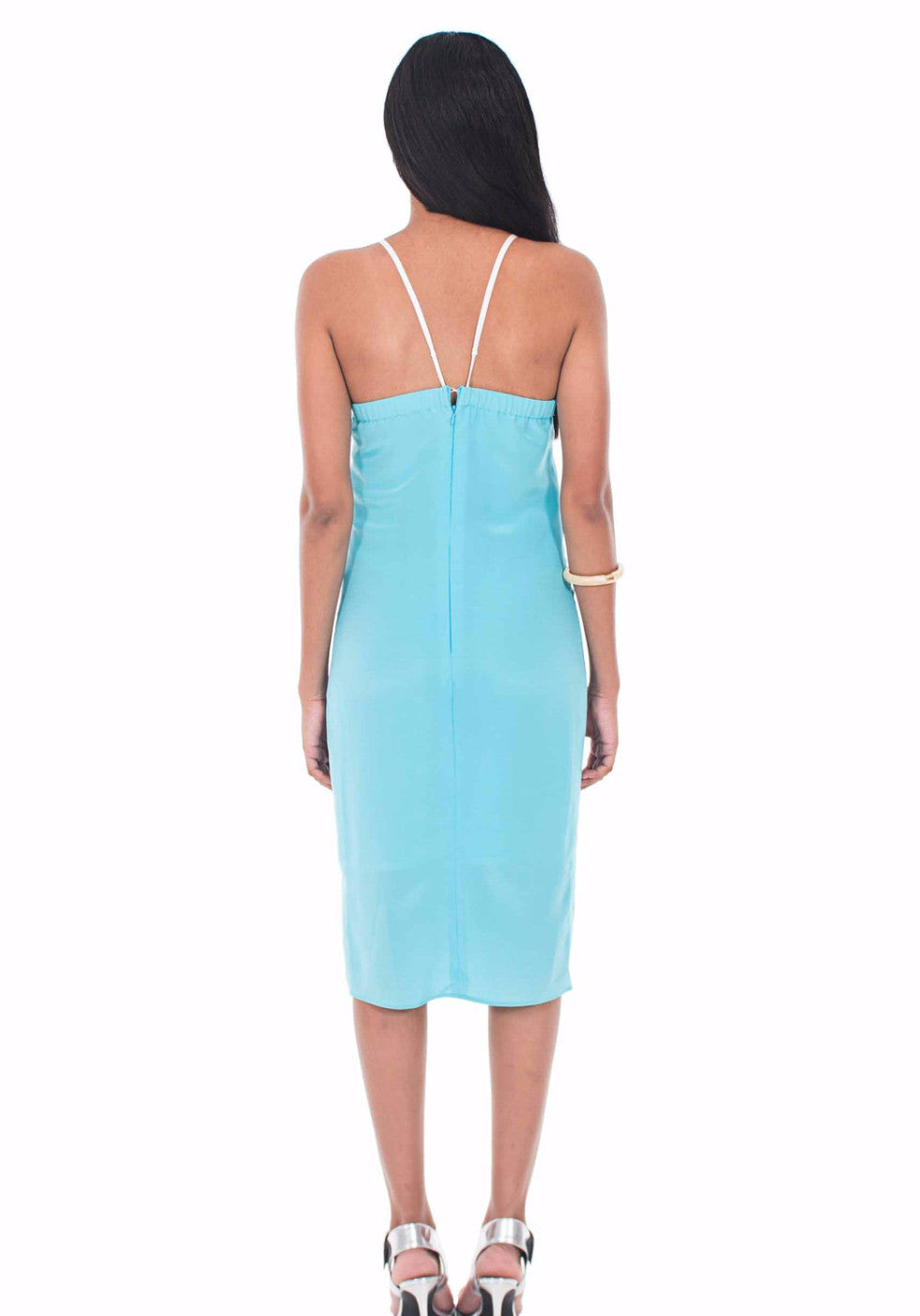 Entwined Midi Slip Dress by Isy B. Design - Back View on Model