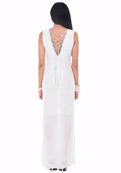 Entwined Maxi Kaftan Dress by Isy B. Design - Back View on Model