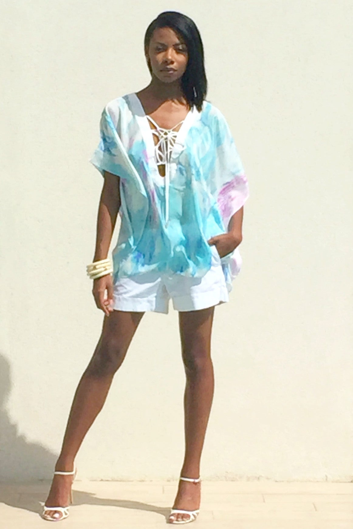 Cayman Wave Entwined Kaftan