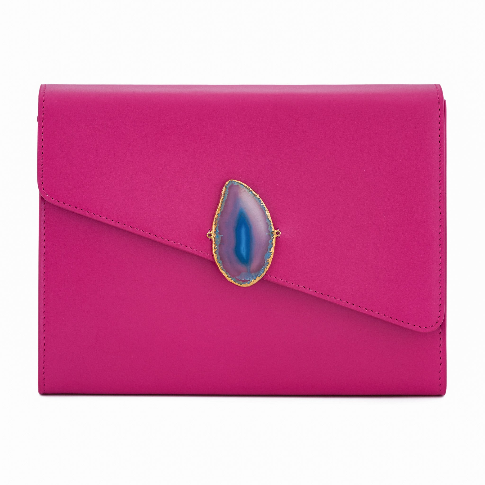 Loved Bag - Pink Ruby Leather with Blue Agate