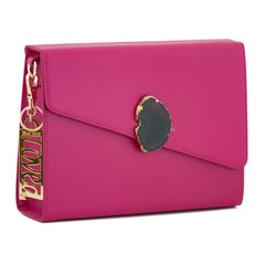 Loved Bag - Pink Ruby Leather with Brown Agate