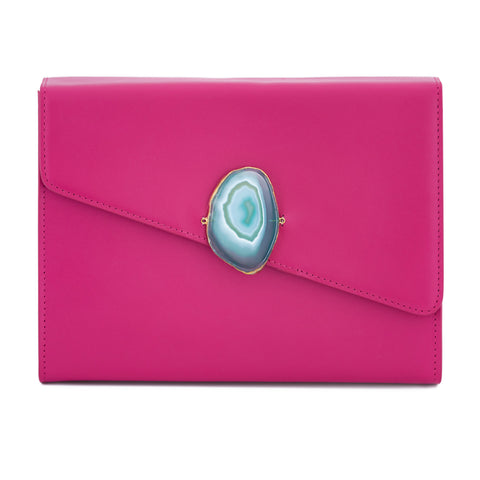 Loved Bag - Pink Ruby Leather with Yellow Agate