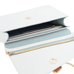 Loved Bag - Moonstone White Leather with Pink Agate
