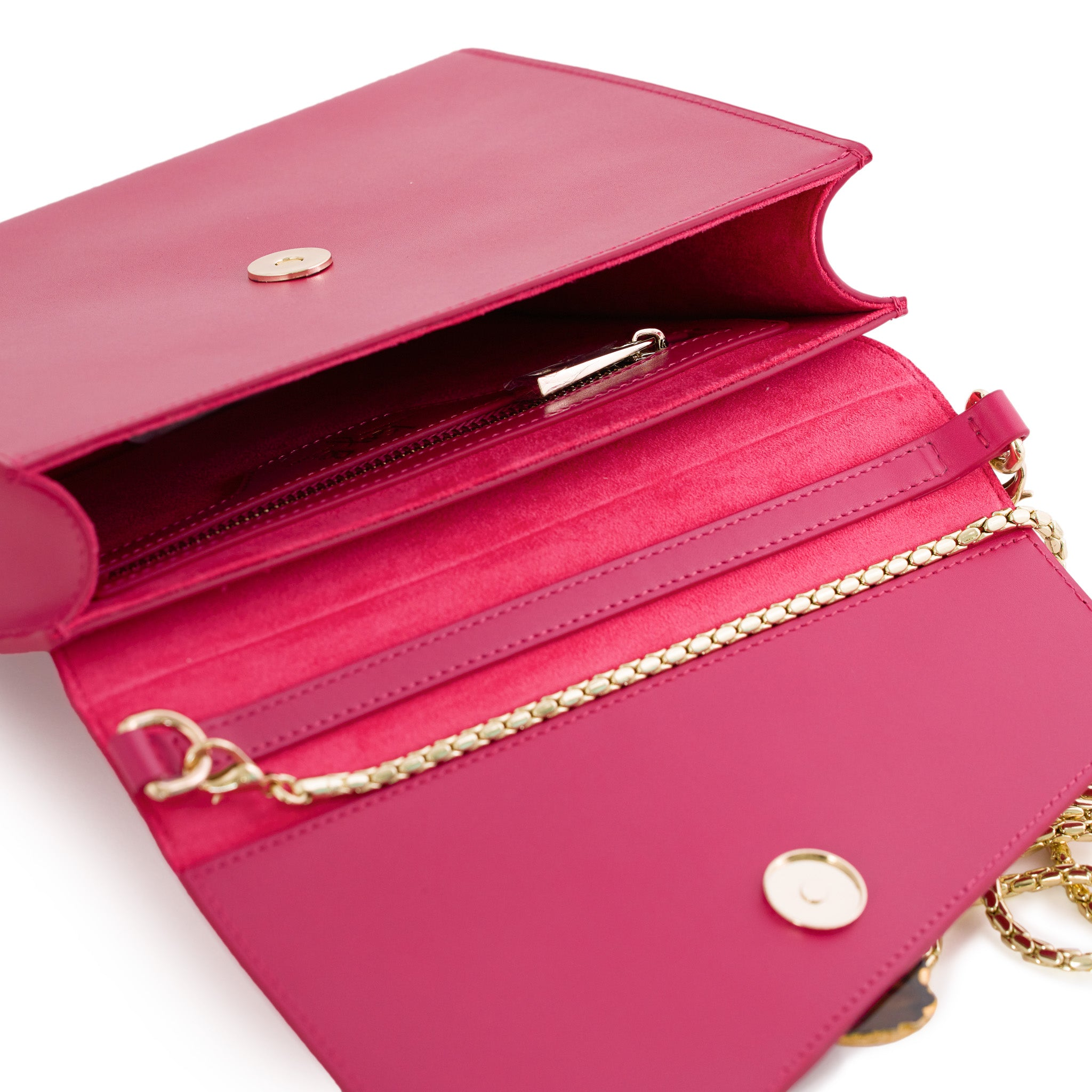 Loved Bag - Pink Ruby Leather with Purple Agate