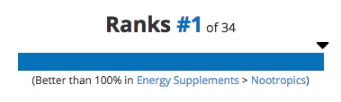 #1 Ranked Nootropic The High Performer
