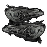 Spyder Scion FRS 12-14 Projector Headlights DRL LED Smoke