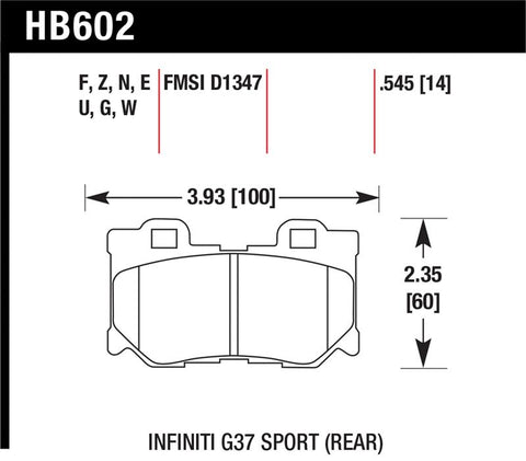 HAWK  HPS 5.0 Brake Pads Rear