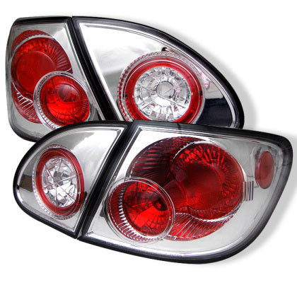 TOYOTA COROLLA 03-08 EURO STYLE TAIL LIGHTS-CHROME