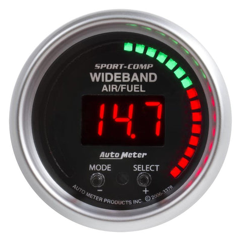 AUTOMETER Sport-Comp Series; Wideband Air/Fuel Ratio (AFR) Gauge