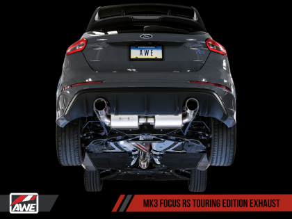 AWE Tuning Ford Focus RS Touring Edition Cat-back Exhaust - Non-Resonated - Diamond Black Tips