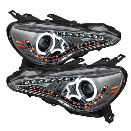 Spyder Scion FRS 12-14 Projector Headlights CCFL Halo DRL LED Smoke