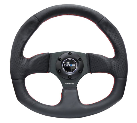 NRG  New Age Sport Steering Wheel; Reinforced Version; Flat Bottom Design