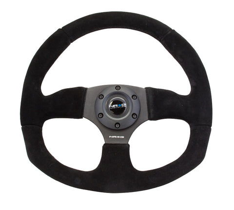 NRG RACE STYLE - Suede Leather Steering Wheel w/ BLACK stitch