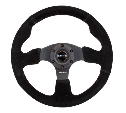 NRG RACE STYLE - Suede Steering Wheel 320mm w/ BLACK stitch