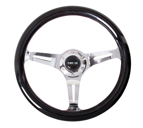 NRG  Classic Wood Steering Wheel; w/ Three Spoke Center w/ Slits
