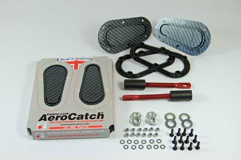 Aerocatch Hood Pins Flush Non-Locking Carbon Look - Universal