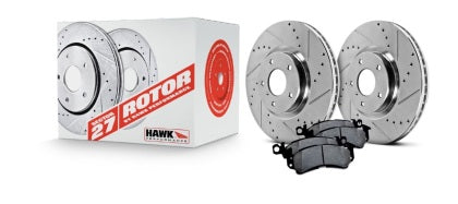 Hawk Performance  Sector 27 Rotors w/ HPS 5.0 Brake Pads Kit - 95-989 Volkswagen Golf GTI VR6