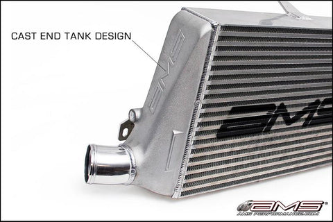 AMS Front Mount Intercooler Kit; w/ Logo