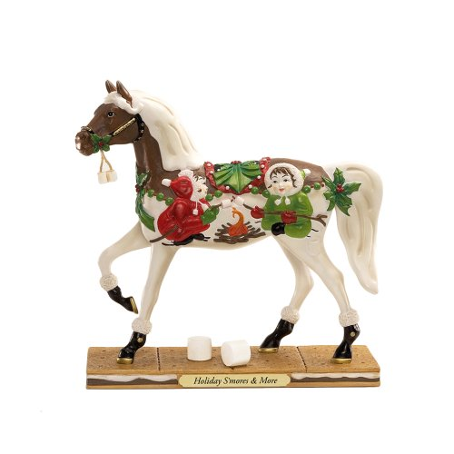 Enesco Trail of Painted Ponies Holiday Smores an More Pony Figurine 7-Inch
