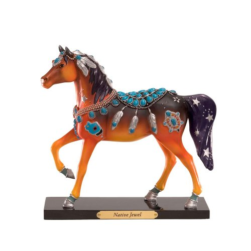 Enesco Trail of Painted Ponies Native Jewel Pony Figurine 7.13-Inch