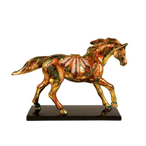 Enesco Trail of Painted Ponies Golden Feather Pony Figurine 6.13-Inch