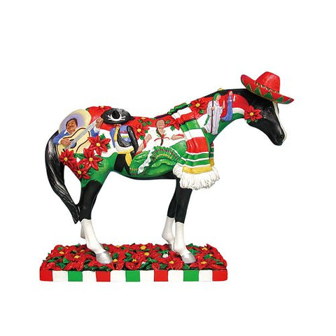 Enesco Trail of Painted Ponies Feliz Navidad Pony Figurine 6-1/4-Inch