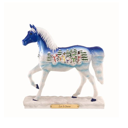 Enesco Trail of Painted Ponies Let It Snow Pony Figurine 7.13-Inch