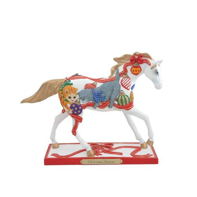 Enesco Trail of Painted Ponies Christmas Kittens Pony Figurine 6.3-Inch