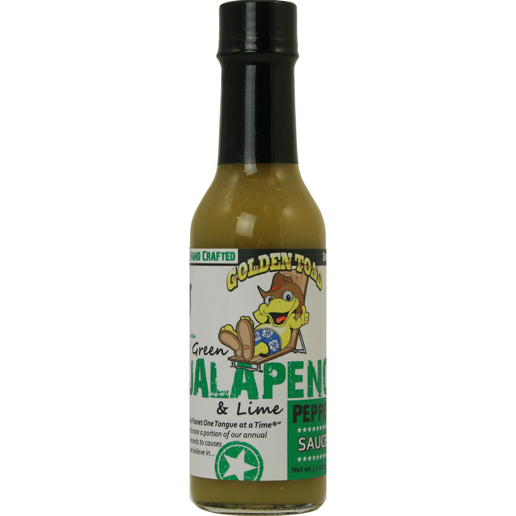 Golden Toad Green Jalapeno Pepper Sauce