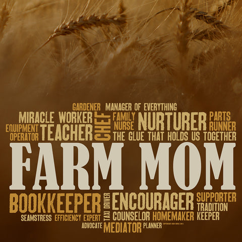 Farm Mom Collage - Wheat