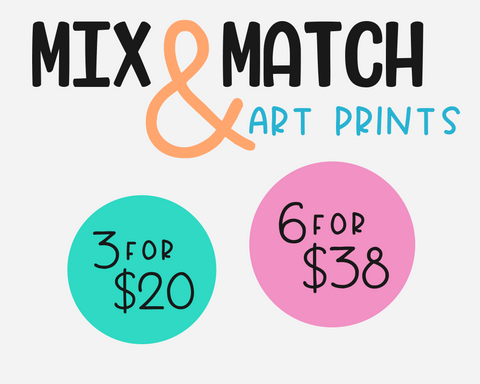 3 or 6 Mix & Match Art Print