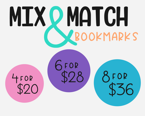 3, 4 or 5 Mix & Match Bookmarks